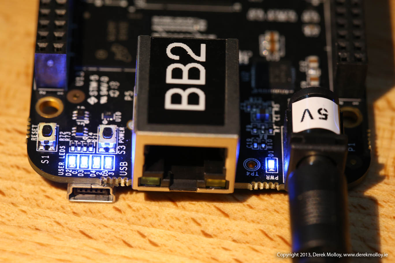 Writing A New Image To The Beaglebone Black Top View Of Completed Circuit Board Waiting Be Mounted On Sdbootsuccess