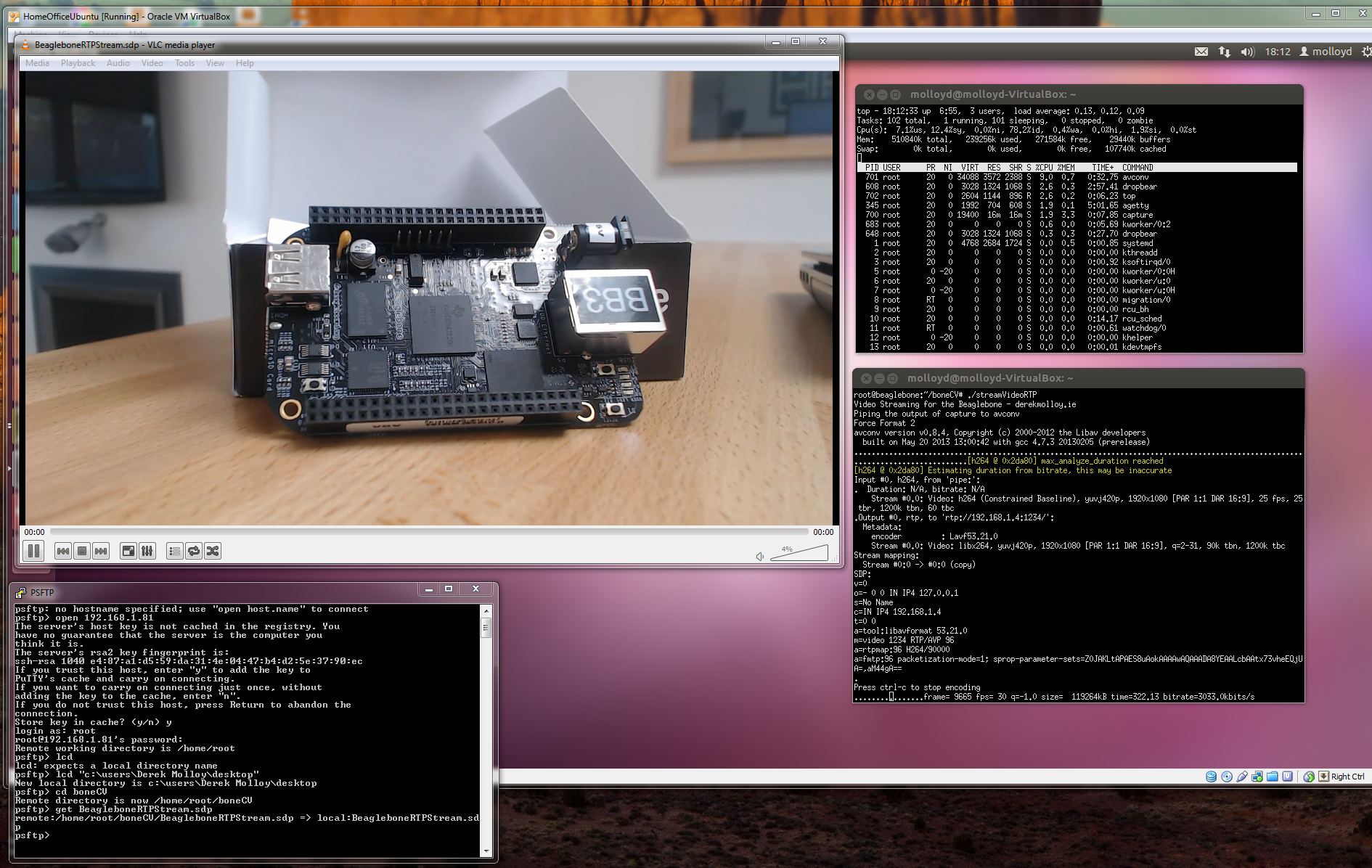 Streaming Video Using RTP on the Beaglebone Black